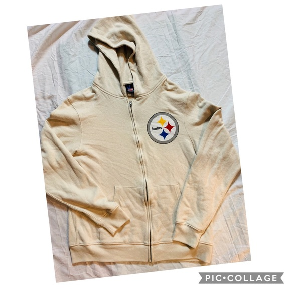 innovative design 70134 845ce 3/$23 Tan Pittsburgh Steelers zip up Hoodie